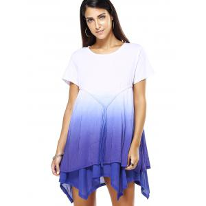 Handkerchief Gradient Straps Dress -