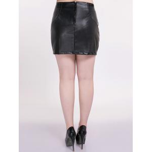 Mini Faux Leather Plus Size Skirt -