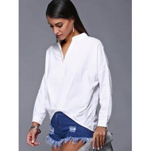 V-Neck High Low Slouchy Blouse -