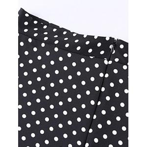 Oversized Chic Polka Dot Print Maxi Skirt - BLACK 6XL