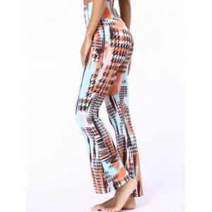 High Waisted Houndstooth Flare Pants -