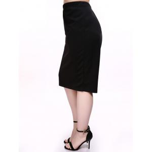 Plus Size Jersey Pencil Skirt -