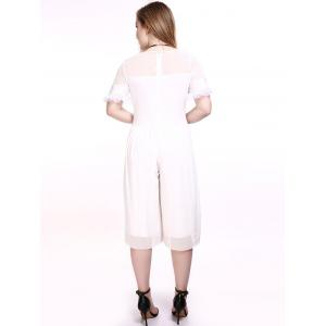 Surdimensionné Séduisante See-Through Wide Leg Jumpsuit -