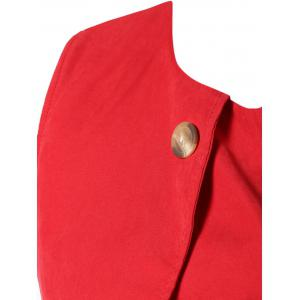 Red Belted Asymmetrical Dress -
