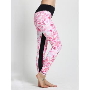Floral Print High Waisted Sporty Leggings -