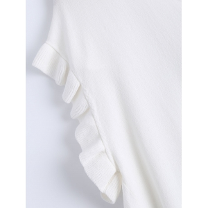 Casual V-Neck Ruffle Sleeves Knitwear For Women -