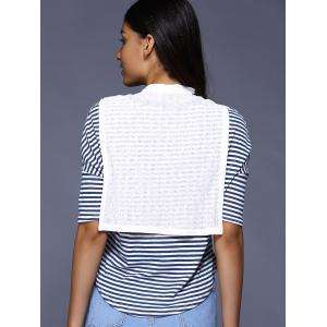 Preppy Style Faux Two-Piece Striped T-Shirt For Women -