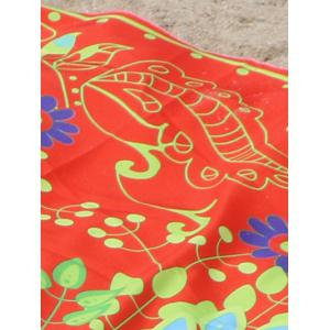 Circle Flower Pattern Beach Cape -