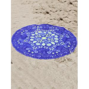 Plant Print Sun-Resistant Beach Cover Up -