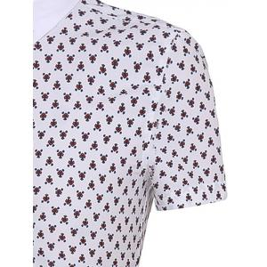 Floral Printing Short Sleeves Button-Down Shirt For Men -