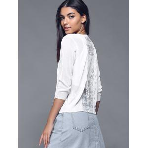 Pure Lace Splicing Button Design Cardigan -