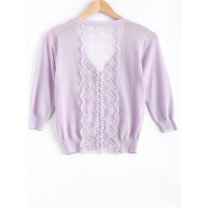Sweet Lace See-Through Cardigan For Women -
