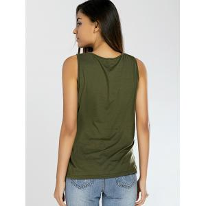 Lace-Up Pure Color Tank Top -