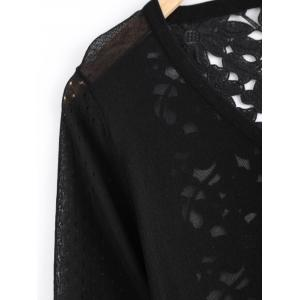 Stylish Floral Hollow Out Cardigan For Women -