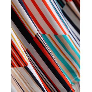Plus Size Sweet Colorful Striped Blouse -