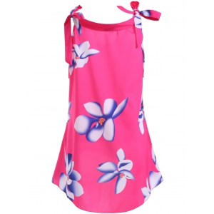 Casual Floral High Low Tank Top For Women -