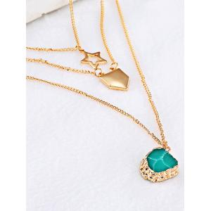 Charming Alloy Star Sweater Chains - GOLDEN