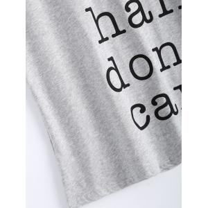 Chic Scoop Neck Boat Hair Dont's Care Pattern Women's Tank Top -