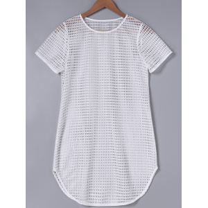 Fashionable Round Neck Short Sleeve Straight T-Shirt -