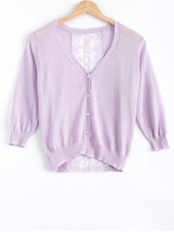 Trendy Sweet Lace See-Through Cardigan For Women