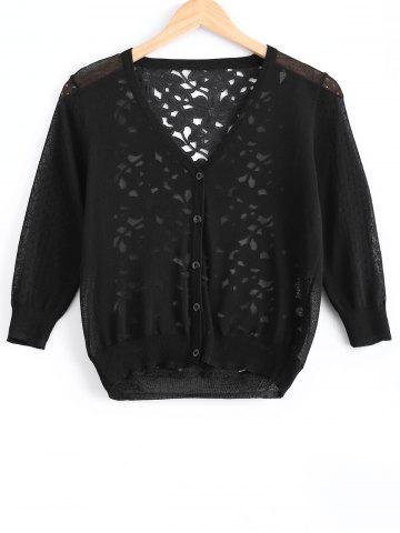 Shop Stylish Floral Hollow Out Cardigan For Women