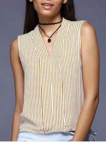 Shop Brief Sleeveless Striped Blouse For Women