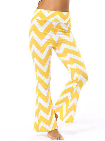 Discount High Waisted Zig Zag Flare Pants