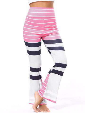 Hot High Waisted Striped Flare Pants