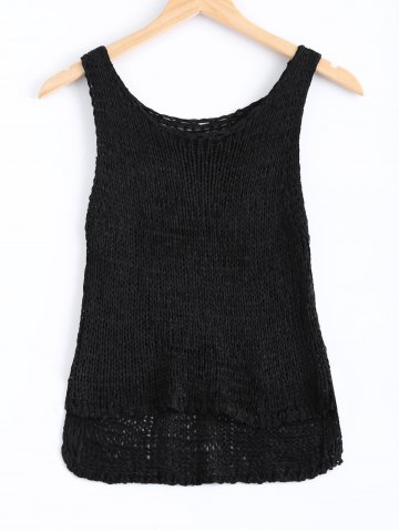 New Simple Solid Color Knitted Tank Top For Women