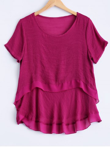 Fashion Plus Size Sweet Double Layer Blouse