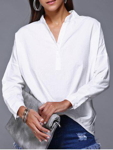 Fancy V-Neck High Low Slouchy Blouse