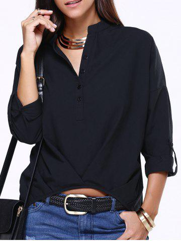Outfit V-Neck High Low Slouchy Blouse