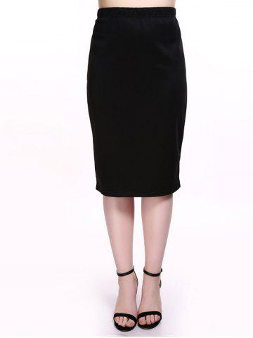 Buy Plus Size Jersey Pencil Skirt