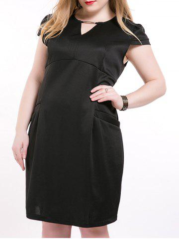 Best Oversized Chic Cut Out Double Pockets Dress