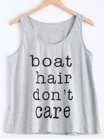 Shop Chic Scoop Neck Boat Hair Dont's Care Pattern Women's Tank Top