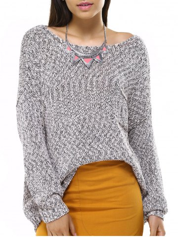 Shop Casual Long Sleeve Boat Neck Solid Color Sweater