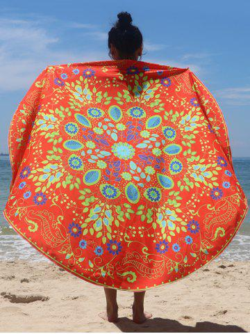 Affordable Circle Flower Pattern Beach Cape JACINTH ONE SIZE