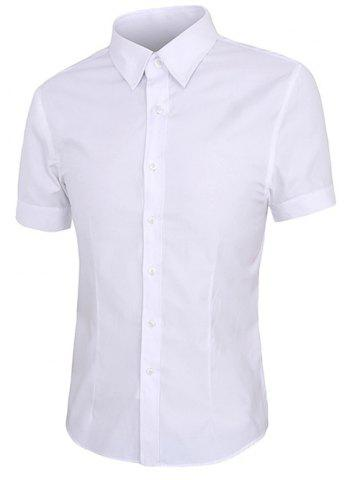 Best Simple Shirt Collar Short Sleeves Solid Color Shirt For Men