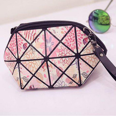 New Stylish Print and Geometric Pattern Design Clutch Bag For Women