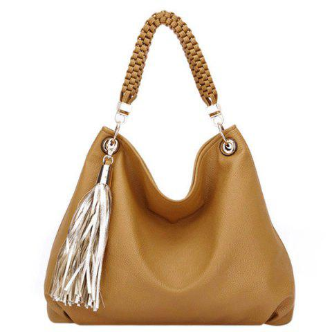 Fashion Trendy PU Leather and Tassels Design Tote Bag For Women