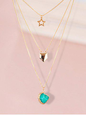 Fancy Charming Alloy Star Sweater Chains - GOLDEN  Mobile