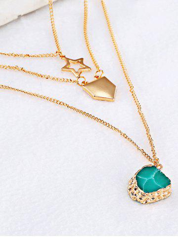 Fashion Charming Alloy Star Sweater Chains - GOLDEN  Mobile