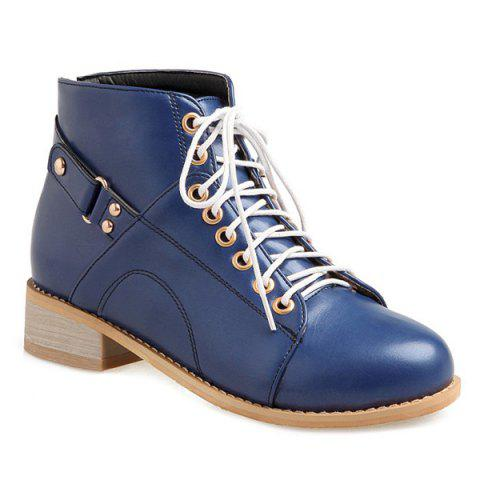 Buy Casual Tie Up and Zipper Design Ankle Boots For Women
