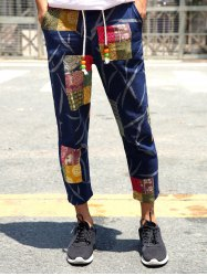 Lace-Up Patch Style Print Nine Minutes of Pants For Men