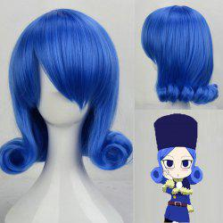 Trendy Short Sapphire Blue Wave Heat Resistant Fiber Juvia Lockser Cosplay Wig