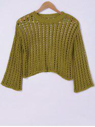 Stylish HollowOut RoundNeck Knitwear For Women -