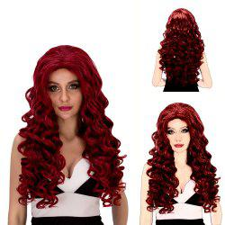 Vogue Long Loose Curly Wine Red Synthetic Capless Cosplay Wig For Women