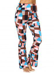 High Waisted Geometric Flare Pants