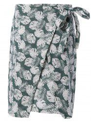 Leaf Printed Skirt -