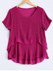 Plus Size Sweet Double Layer Blouse -